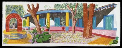 David Hockney, 'Hotel Acatlan: Second Day', 1984-1985