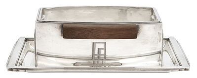 Jean E. Puiforcat, 'Jean E. Puiforcat Silver and Rosewood Sauceboat on Stand', 1930s