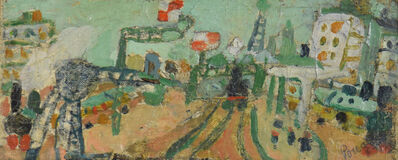 Jean Pougny, 'Paysage de Paris (La Ligne de Chemin de Fer)', 20th century