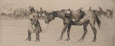 Oswald Roux, 'Krankes Pferd', 1916