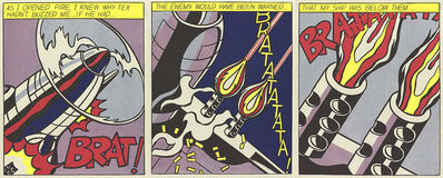 Roy Lichtenstein, 'As I Opened Fire (Triptych)', 1997