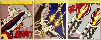Roy Lichtenstein, 'Vintage Offset Lithograph Triptych Roy Lichtenstein Pop Art Stedelijk Print', 20th Century