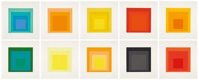 Josef Albers, 'Josef Albers - Homage to the square (Edition Keller I)', 1970