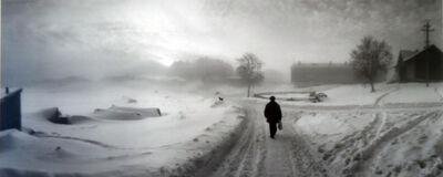 Pentti Sammallahti, 'Solovki, White Sea, Russia, (Man Walking Down Snow Covered Road)', 1992