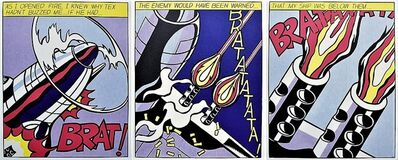 Roy Lichtenstein, 'As I Opened Fire (triptych)', 2002