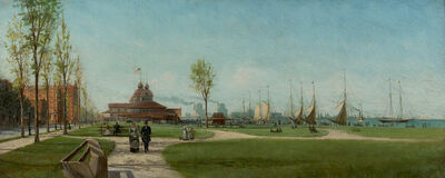 John Franklin Waldo, 'Lake Park, Michigan Avenue, Chicago', 1885