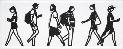Julian Opie, 'Walking in Melbourne 6, from Walking in Melbourne series', 2018