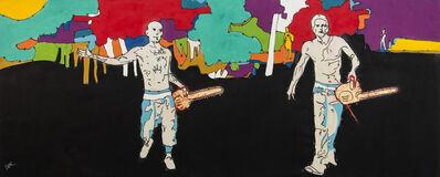 Viktor Mitic, 'Safe Harbour - large, graphic, figurative, pop-art, cultural, acrylic on canvas', 2020
