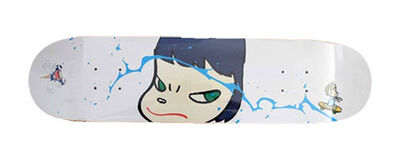 Yoshitomo Nara, 'Yoshitomo Nara & Takashi Murakami, BRUTUS original collaboration skateboard deck', 2001