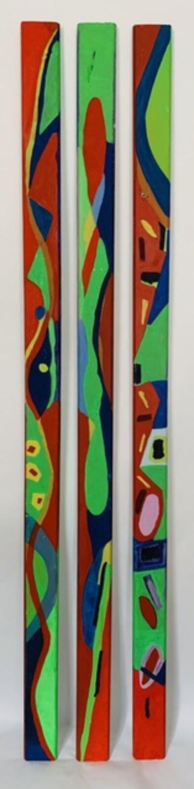 Karmimadeebora, 'Red, Blue Green - Set of 3', 2018