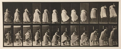 Eadweard Muybridge, 'Animal Locomotion, Plate 457 (Stepping on chair, and reaching up)', 1887