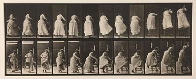 Eadweard Muybridge, 'Animal Locomotion, Plate 457 (Stepping on chair, and reaching up)', 1887