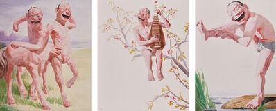 Yue Minjun, 'Untitled (Smile-ism No. 6); Untitled (Smile-ism No. 8); and Untitled (Smile-ism No. 12)', 2006