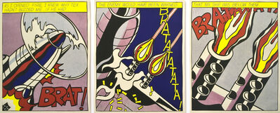 Roy Lichtenstein, 'As I Opened Fire (Triptych)', 1966