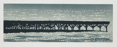 Richard Bosman, 'Jetty', Three color woodcut