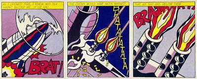 Roy Lichtenstein, 'As I Opened Fire (Triptych)', 1997