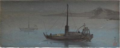 Kakunen Tsuruoka, 'sailing boats in a bay', n.d., ca. 1920, 30s