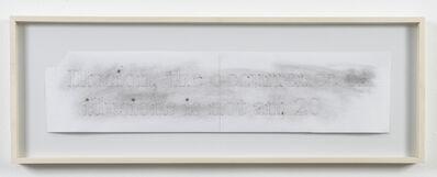 Helen Mirra, 'Spark Drawing (Illusion)', 2006