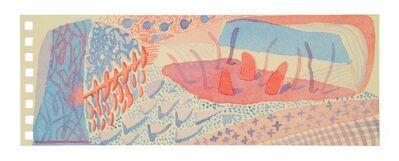 David Hockney, 'Composition Red & Blue', 2005