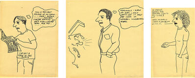 Sean Landers, 'Cartoon (I've Got a Show Up this Month); Cartoon (I Know It's Art); and Cartoon (Chip)', 1992
