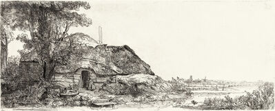 Rembrandt van Rijn, 'Landscape with a Cottage and a Large Tree', 1641