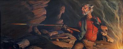 Robert Riggs, 'Prospector firing Rifle  ( Happiness is a Warm Gun ) ', ca. 1940