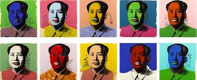 Andy Warhol, 'Mao (set of 10)', 1972