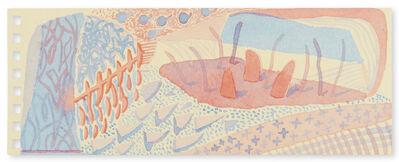 David Hockney, 'Composition Red & Blue (Momart)', 2005