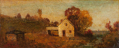 Ralph Albert Blakelock, 'House by a Stream', 1870