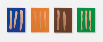 Günther Förg, 'Mr. Blue, Mr. Orange, Mr. Brown, Mr. Green', 2002
