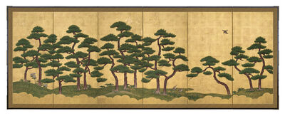 Unknown Artist, 'Pair of Six-Panel Screens, Pine Trees (T-3606L)', Edo period (1615, 1868), 18th century