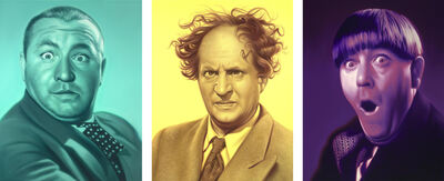 Doug Bloodworth, 'Curly, Larry, Moe (triptych)', 2015