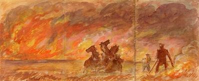 John Steuart Curry, 'The Prairie Fire', 1940