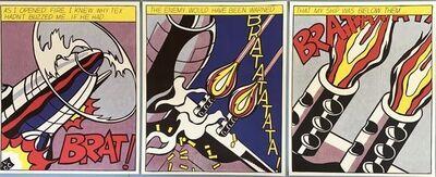 Roy Lichtenstein, 'As I Opened Fire Triptych', 1964