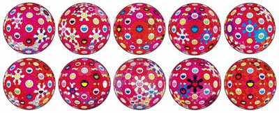 Takashi Murakami, 'Groping for the Truth; Flowerball (3D) – Turn Red!; Flowerball (3D) – Red, Pink, Blue; Flowerball (3D) – Papyrus; Flowerball (3D) – Blue, Red; Thoughts on Picasso; There is Nothing Eternal in this World. That is Why You are Beautiful; Hey! You! Do You Feel What I Feel?; Flowerball (3D) – Red Ball; and Comprehending the 51st Dimension ', 2013-2015