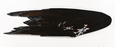 "Ted Lincoln, 'battle of yaven,, 66"" x 18"" x 2"",,', 2013"