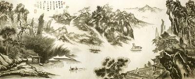 Zhang Yanyun, 'Overlooking the bank of the river on the mountain 登山望滨图 ', 2012