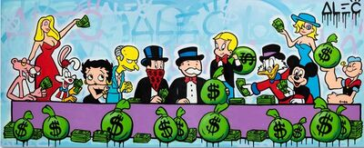 Alec Monopoly, 'Money Team Last Supper', 2019