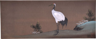 Kakunen Tsuruoka, 'Crane, Pine and Bamboo (Three Friends of Longevity)', ca. 1920s