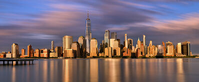 Andrew Prokos, 'Manhattan and World Trade Center Sunset – Long Exposure Panorama', 2020