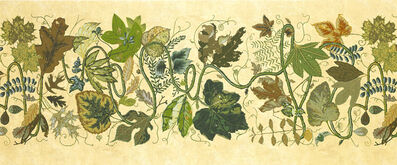 Joan Nelson, 'Wallpaper, August, Yellow Vines, ten rolls; Yellow Ground, five rolls'