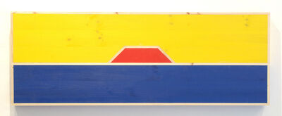 """G.T. Pellizzi, '""""Red Octagon Inserted Between Two Rectangular Planes, One Yellow and One Blue""""', 2017"""