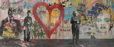 Mr. Brainwash, 'Chaplin and Einstein', 2012