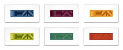 Sol LeWitt, 'Lines in Four Directions in Color on Color', 2005