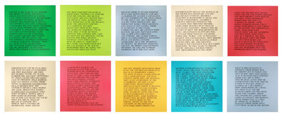 "Jenny Holzer, '10 works from the series ""Inflammatory Essays""', 1979-1982"