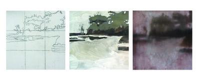 Mary Case, 'The Secret Life of Painting, Brickyard Bayou I-III'