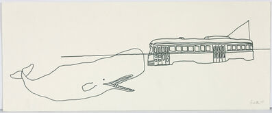 Charles Pachter, 'Whale and Streetcar', 1977