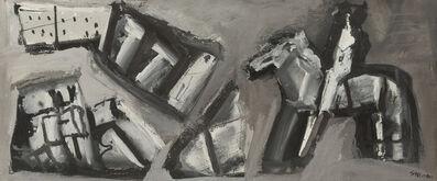 Mario Sironi, 'Composizione con cavaliere', 1950
