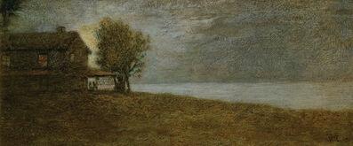 William Morris Hunt, 'Moonlit Shore', 1864