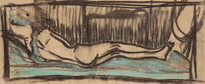 Ernst Ludwig Kirchner, 'Liegender Frauenakt auf türkisfarbenem Sofa (Reclining Nude on a Turquoise Sofa)', 1905